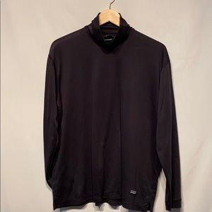 Patagonia Capilene Black Turtleneck Size Large